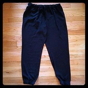Merona Black Trousers/Joggers Size Large